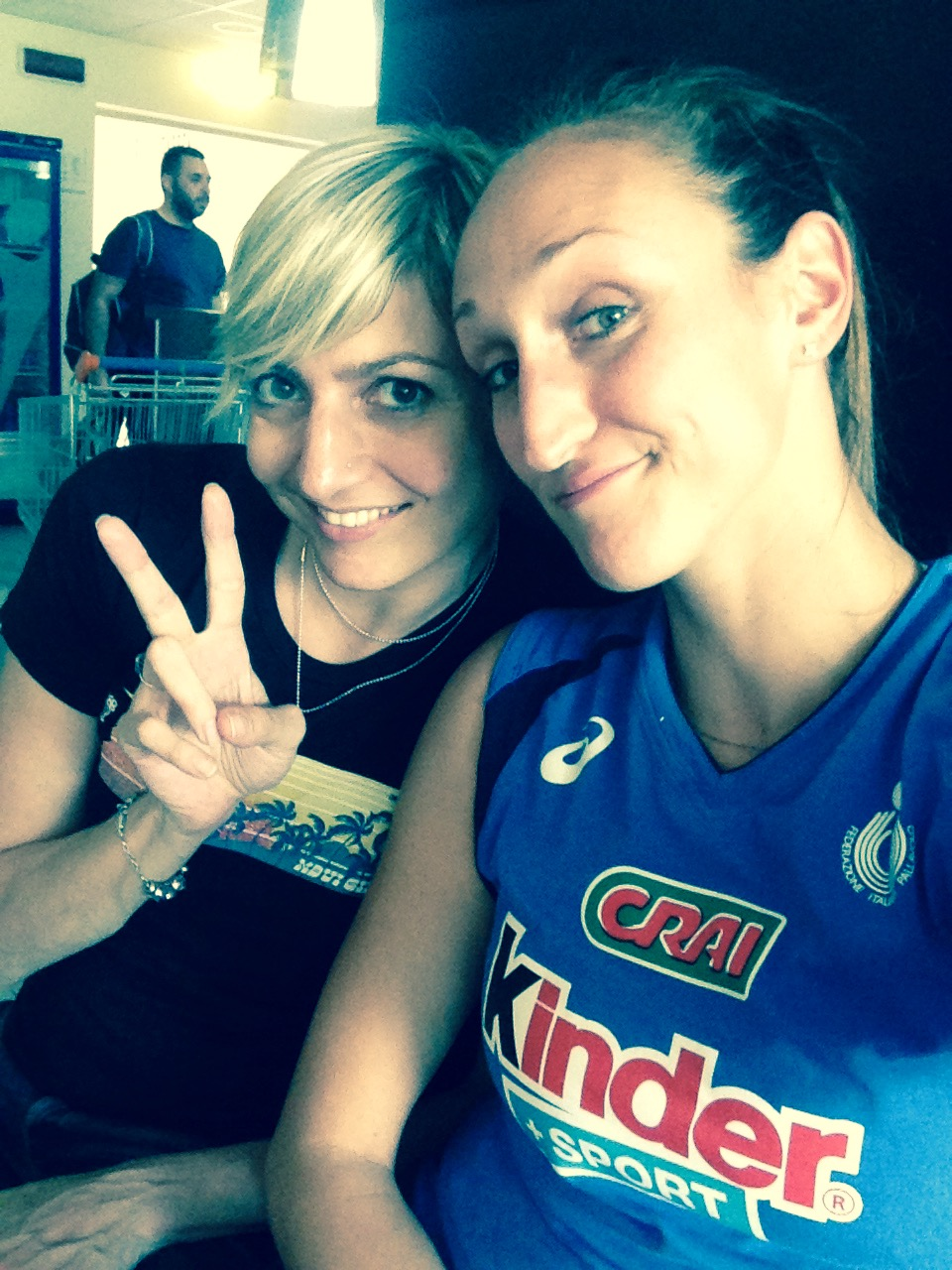 Sara Anzanello con Raffa Calloni